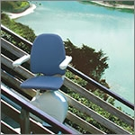 External use electric stair lifts from MediTek are ideal for outdoor use with weather resistant-coating.
