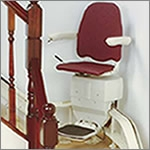 MediTek multi-flight electric stair lifts designed for straight staircases with intermediate landings.