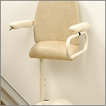 If bending at the hips presents a problem, the stand and perch electric stair lift is an ideal solution.