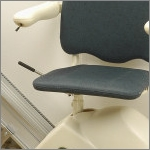 Manual or powered swivel seat available on all MediTek electric stair lifts.