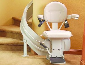 curved staircase stair lift installation