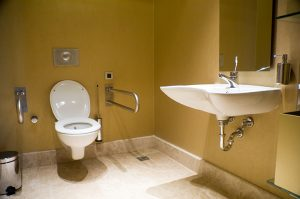 Handicapped accessible toilet and sink