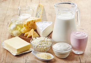 Eating dairy products for strong bones is also a good New Year's resolution for seniors