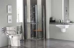 Bathroom for people with disabilities in modern setting