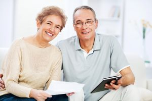 Retired couple happy with their finances