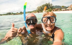 Retired seniors on vcation