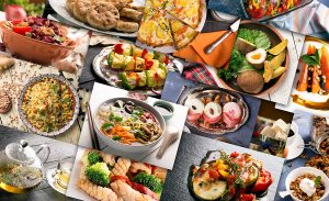 collage of international foods