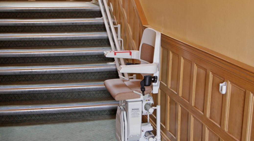 an empty stair lift